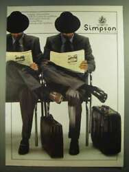 1979 Simpson Piccadilly Luggage, Shoes, Hats, Shirts, Ties And Suits Ad