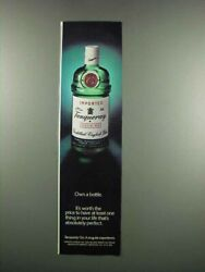 1983 Tanqueray Gin Ad - Own A Bottle