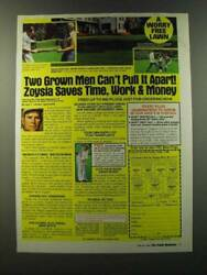 1986 Zoysia Grass Ad - Two Grown Men Canand039t Pull It Apart Zoysia Saves Time