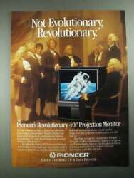 1987 Pioneer 40quot; Projection Monitor Ad Not Evolutionary Revolutionary