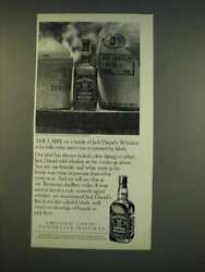1990 Jack Daniels Whiskey Ad - The Label On A Bottle Of Jack Daniel's Whiskey