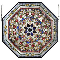 Front Hall Floral Stained Glass Window Multi-color