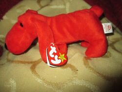 Rare Retired 1996 Ty Beanie Baby Rover Pvc Pellets And Collectible Errors Euc