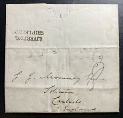 1841 Philadelphia Pa Usa British Consulate Letter Sheet Cover To England