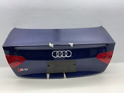 2008-2017 Audi S5 A5 Coupe Trunk Hatch Tailgate Led With Rear View Camera Blue