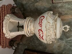 1960andrsquos Coca-cola Syrup Dispenser With 8 Glasses And 2 Glass Holders With Handles