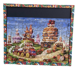 Jigsaw Puzzles 170 Pieces Wooden New Russian Biscuit Slides Gift Andtoys Vintage