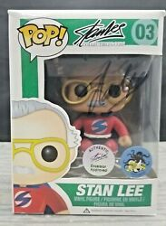 Funko Pop Stan Lee 3 Comikaze Exclusive Signed By Stan Lee Excelsior Approved