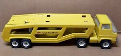 Vintage 1960s Tonka Car Carrier Truck, Pressed Steel Toy Nice Original Condition