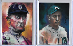 Ty Cobb Charlie Gehringer Authentic 2015 Artist Print Cards