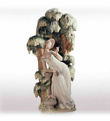 Lladro Waiting In The Willow Porcelain Figurine 1874