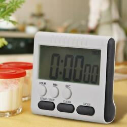 Magnetic Large LCD Digital Kitchen Cooking Timer Alarm Count Up Down Loud Clock