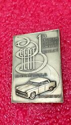 Barcelona -ford Country Sedan 2-seat 1959 Silver Plated Medal 70mm-50mm