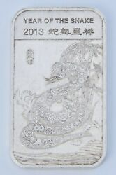 Chinese New Year 2013 Year Of The Snake 1oz Fine Silver Bar 0.999