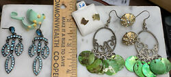 Earring Lot 5 Pairs Costume Jewelry Collection - Egg/8/120 - Make An Offer