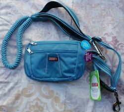 New Kong Hands-free Removable Pouch Comfort And Reflective 6' Leash, Blue