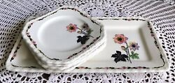 Myott Son And Co England Sandwich Or Cake Serving Set