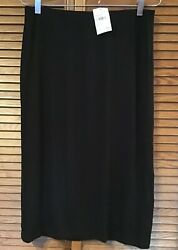 NEW NWT Bobeau NORDSTROM RACK Pull On BLACK RIBBED Pencil Skirt Size L $9.99