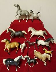 Lot Of Assorted Breyer Collectible Horses - Various Sizes And Styles - Great Cond.