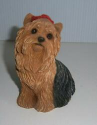 ORIGINAL SANDICAST MID SIZE  YORKSHIRE TERRIER    HANDMADE IN USA