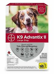 K9 Advantix II for Large Dogs 21 55 lbs 6 Pack NEW