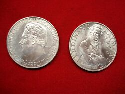 1965 And 1966 Austria 25 Schilling Coins - Unc - Nice And Frosty - Natural