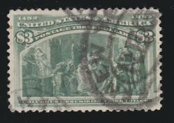 Us 243 3 Columbian Expo Used With Psag Cert Graded 85 Scv 1600