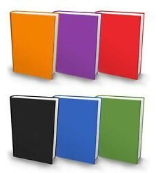 The Original Book Sox Stretchable Jumbo Fabric Book Cover - 6 Solid Print Pack