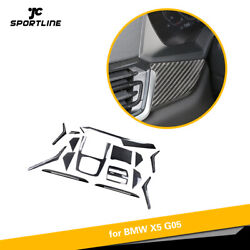 15pcs Carbon Fiber Full Interior Dashboard Cover Trim Fit For Bmw X5 G05 2019up
