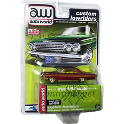 Autoworld Cp7657 Lowriders 1962 Chevrolet Impala Ss Hardtop 1/64 Red Chase