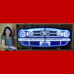 Mustang Grill Neon Sign. 5' Wide In Canned Frame. Amazing Piece