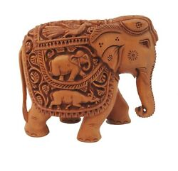 Fine Wooden Elephant Carving Figure,statue Gifts Hand Carved,living Room,bedroom