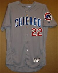 2018 Chicago Cubs Jason Heyward 22 Gray Road Button-down Mlb Size 46 Jersey
