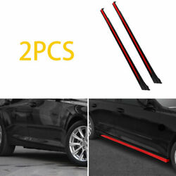 For 2019-2020 Cadillac Ct5 Abs Black Red Side Skirts Extension Spoiler Lip 2pcs