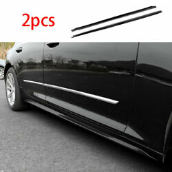 Fit For Cadillac Ct5 2019-2020 Exterior Door Panel Trim Side Skirts 2x Abs Black