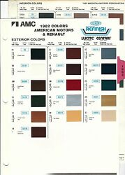 1982 Amc American Motors Renault Jeep Eagle Concord Paint Chips