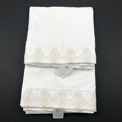 Sweet Dreams Elizabeth Lace White Double Lined Curtain Panels Set Of 2 Nwt New