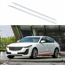 Fit For Cadillac Ct5 2019-2020 Exterior Door Panel Trim Side Skirts 2x Abs White
