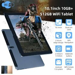 Android Wifi 10.1 Tablet 10+512gb Pad 10core Dual Game Phone Tablet Computer Hd
