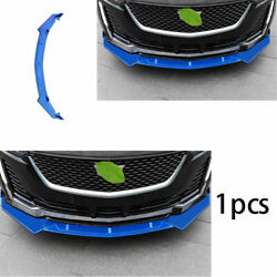 Fit For Cadillac Ct5 2019-2020 Front Bumper Lip Spoiler Bodykit Refit Abs Blue