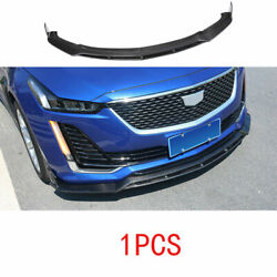 Fit For 2019-2020 Cadillac Ct5 Real Carbon Fiber Front Bumper Lip Chin Spoiler
