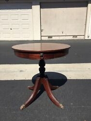 Antique Round Side Table Beautiful Vintage With Claw Feetandnbsp
