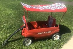 Radio Flyer Deluxe Pathfinder Wagon With Canopy And Comfort Seat Pads