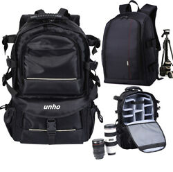 Sturdy Camera Bag Backpack Waterproof Shoulder For Canon Sony Nikon DSLR EOS US $49.91