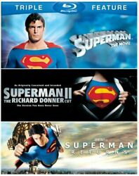 Superman: The Movie Superman II Superman Returns Blu ray NEW