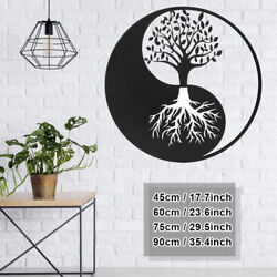 Tree of Life Hanging Wall Metal Art Round Hanging Sculpture Home Decor 4 Sizes