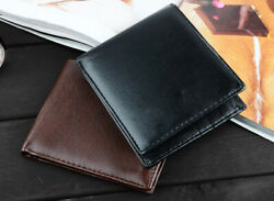 Mens Bifold Wallet Leather Money Purse Credit Card ID Card Holder Slim Clutch $4.29