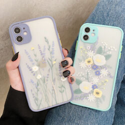 Girls Clear Cute Flower Case For iphone 11 12 Pro Max 7 8 Plus XS Max XR Cover $7.91