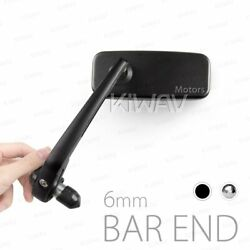 Motorcycle Bar End Mirrors Classic For 6mm Threaded Bar