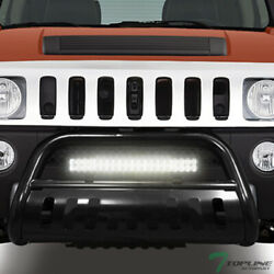 Topline For 2005/2006-2010 Hummer H3 Blk Bull Guard With 120w Cree Led Light Bar